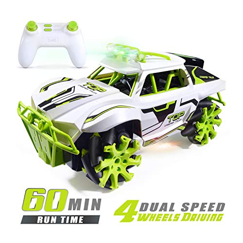 Fast Remote Control Car 4-Wheels Driving Off-Road Vehicle, High-Speed Racing Truck with Low/High-Speed Dual Mode Switch 360 Degree Rotation Drift Stunt Toy car, Best Toy New Year's Gift for Kids