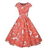 Venta de ropa para mujer, suave, cómodo, vintage, manga corta, Navidad, años 50, estilo Hepburn, ama de casa, fiesta de noche, vestido de fiesta para uso diario