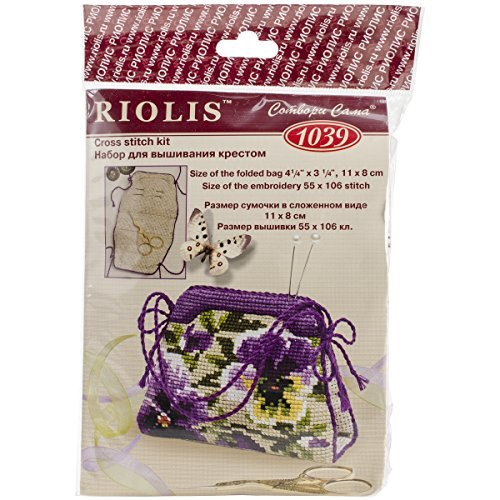 RIOLIS Riolis R1039 Kit de punto de cruz contado, 4.25 por 3.25 pulgadas, Pensamiento por
