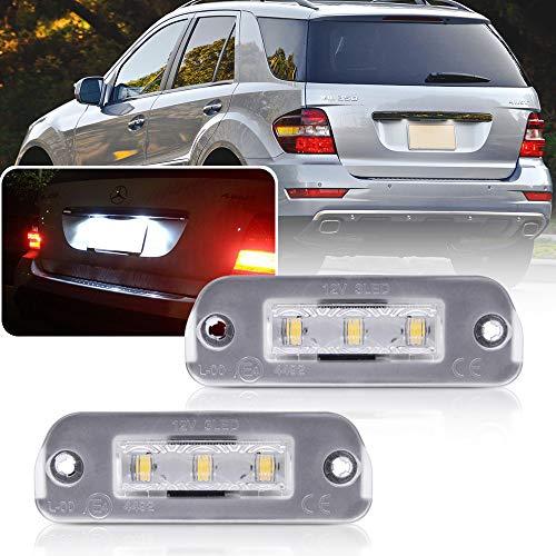NSLUMO 2 Stück Klares Objektiv LED Kennzeichenleuchte Für Mercedes R-Klasse ML-Klasse GL-Klasse