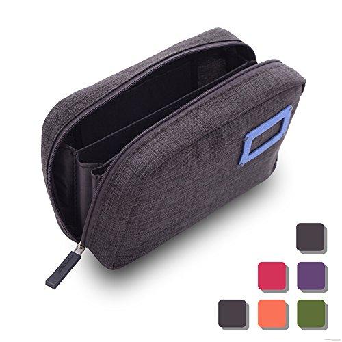 ペンケース 筆箱 大容量 シンプルでおしゃれ 全5色 (グレー)