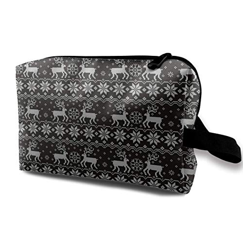 Jacquard with Reindeers Travel Storage Bag Cosmetic Bag Beauty Case Buggy Bag