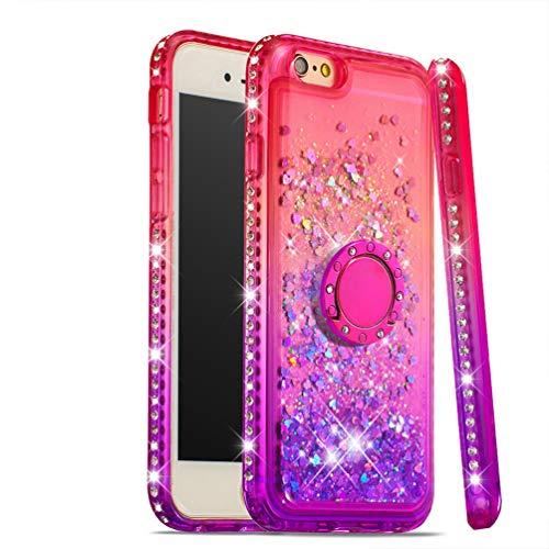 ToneSun - Funda para iPhone 6/iPhone 6S, con Lentejuelas pintadas, líquida, Transparente, con Estrellas Brillantes