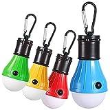 DY_Jin Camping Light - Tienda de LED portátil Bombilla de luz para Camping Senderismo Pesca Luz de Emergencia con batería, Paquete de 4 (Hebilla Completa)