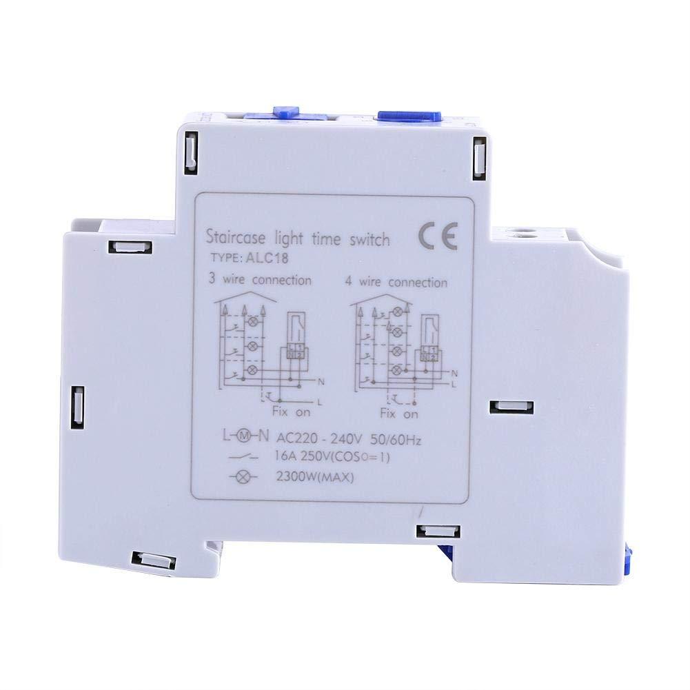 Temporizador programable-AC 220-240V mecánica del aparato electrodoméstico Tiempo del relé de Escalera interruptor electrónico del Corredor del temporizador: Amazon.es: Bricolaje y herramientas