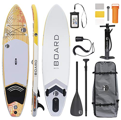 iBOARD Inflatable Paddle Board |SUP Board Stand Up Paddle Board| 11′×32″×6″ Thick|All Accessories Inside