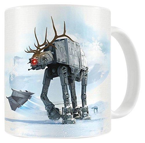 SD Toys-Mug Céramique SDTSDT89781 Reno-at at Star Wars Blanc