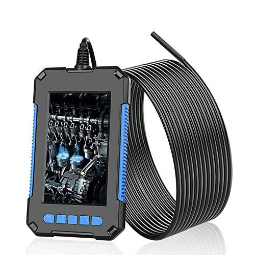 LIDIWEE Endoskopkamera mit Licht 10M, HD inspektionskamera Kabel Rohrkamera mit 5.5mm 6 LED Licht wasserdichte Endoskop Kamera Industrieendoskop, 4,3 Zoll IPS Farb Bildschirm