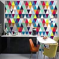 カスタム不織布壁の壁紙 リビングルームのためのモダンなミニマリストの壁紙ステレオ3D幾何学的格子抽象的な壁の装飾