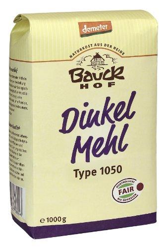 Bauckhof Dinkelmehl T1050 Demeter, 4er Pack (4 x 1 kg)