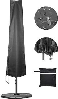 Yardwe Umbrella Parasol Cover Waterproof Banana Cantilever with Zipper Black
