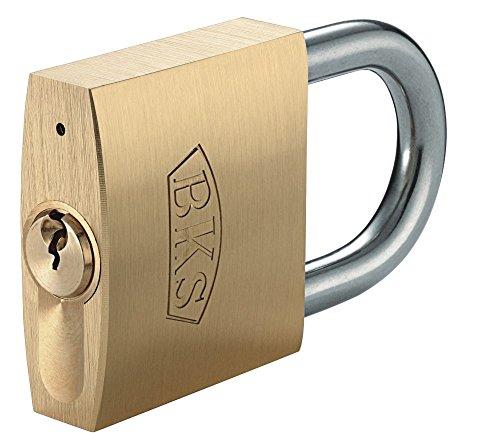 BKS PZ88 Hangschloss Messing mit 3 Schlüssel