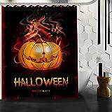 WOONN Halloween Kürbis Duschvorhang, viel, benutzerdefinierte Produkt, benutzerdefinierte Stoff Bad Bildschirms, Pflaume