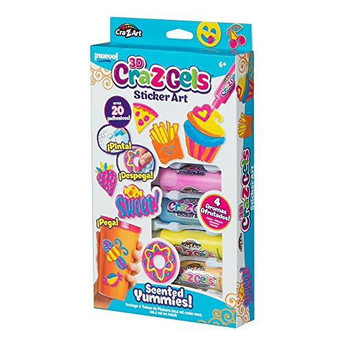Cra-Z-Art - Set decoración 3D Scented Yummies & 4 botes gel de colores (85127)