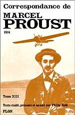Correspondance, tome 13 de Marcel Proust