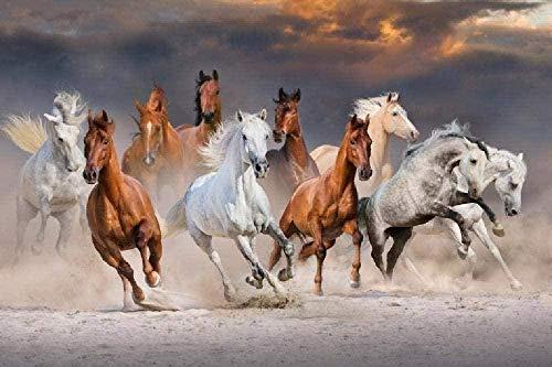 Houten puzzel 1000 stukjes,1000 Stukjes Houten Puzzel Voor Volwassenen Paardenrace Grote Puzzel Is Een Goed Cadeau Voor Vrienden