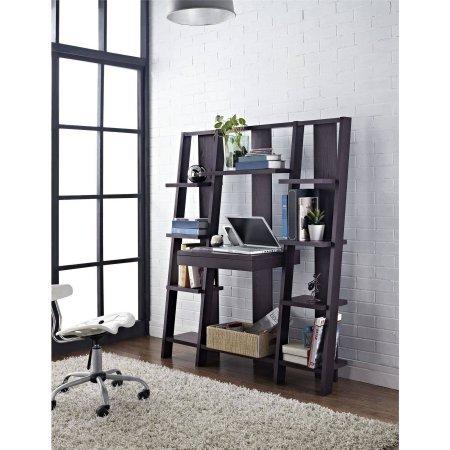Altra Furniture Ladder Desk - Espresso Finish  9 Open Shelves