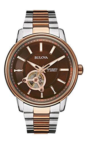 Bulova Automatic 98A140 - Reloj automático de diseño para Hombre - Correa Bicolor - Acero Inoxidable - Color Oro Rosa