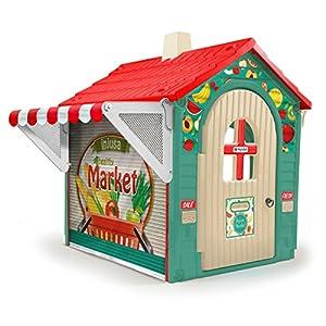 INJUSA Casita de Juguete Market House con Toldo y Persiana para Niños de 3 años con App Educativa de Realidad Aumentad Casa, multicolor, 29 cm (2036)