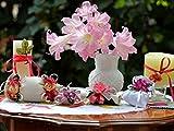 Shenglex Pintura por números al óleo Kits de Pintura Lienzo Digital Arte la Pared Pinturas Decoraciones Regalos(40X50 cm) sin Marco--Flores florero Rosas Bolsos Lazos Velas