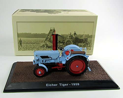 Unbekannt Modell Traktor 1:32 Eicher Tiger - 1959 - blau Atlas 7517011
