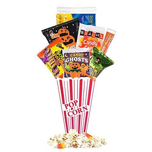 Halloween Movie Night Gift Basket – Halloween Candy Basket Gift – With Delicious Candy Plus Free Redbox Movie Rental – Excellent Halloween Kid Gifts (Pumpkin)