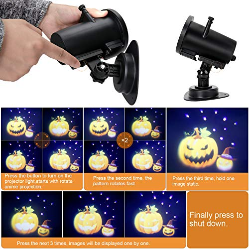 Christmas Projector Lights, Ocean Wave LED Light Projector Dynamically Changing Colorful Landscape Lights Waterproof Outdoor Indoor Xmas Party Yard Garden Decorations-14 Slides 17feet Cable