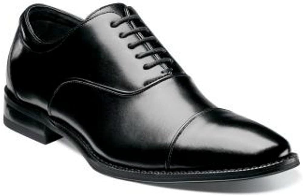 STACY ADAMS Kordell Black Oxford Cap Toe Leather Dress Shoes