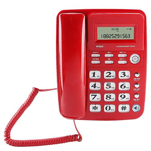 Sdfafrreg Teléfono, teléfono de Oficina, teléfono Fijo inalámbrico con Ahorro de energía de Doble tecla(Red)