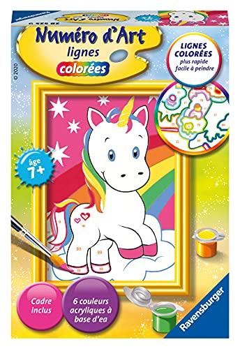 Ravensburger – Numéro d'art mini format – Adorable licorne – loisir créatif – kit de peinture acrylique – activite détente – enfant dès 7 ans – 28525