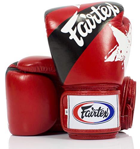 Fairtex Boxen Kickboxen Muay Thai Style Sparring Handschuhe Training Boxsack Pad, Unisex, rot/schwarz
