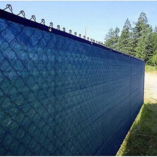YZJL Balkon Privacy Screen witterungs- und wasserdicht dekorative Zäune Shading Rate 90% im Knopfloch mit Seil Gartensichtschutz (Color : Blue, Size : 1.8x9m)
