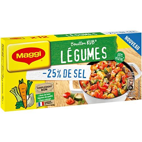 Maggi Bouillon Kub Légumes Sel Réduit 120 g 7613036750011