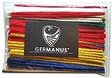 GERMANUS Pfeifenreiniger 100 Stück in Bunt, Rot, Gelb, Blau, Grün, Weiß, Chenilledraht...