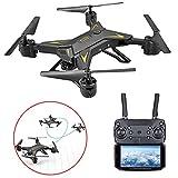 Mini Pliable Drone, hélicoptères Quadcopter avec 1080P caméra, One-Click Retour & LED, Jouets...