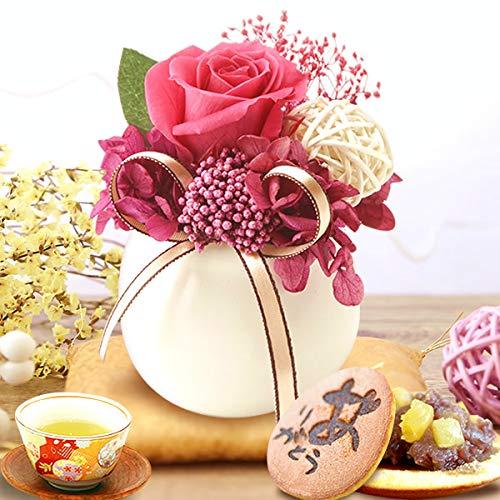 花とスイーツ 敬老の日ギフト プリザーブドフラワー アレンジメント