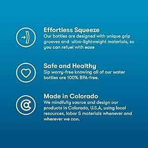 Polar Bottle Breakaway Insulated Bike Water Bottle - BPA Free, Cycling & Sports Squeeze Bottle (Bolt - Charcoal & Silver, 24 oz)
