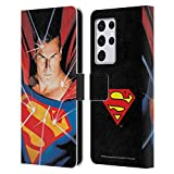 Head Case Designs Officially Licensed Superman DC Comics Alex Ross Mythology Famous Comic Book Covers Leather Book Wallet Case Cover Compatible with Samsung Galaxy S21 Ultra 5G