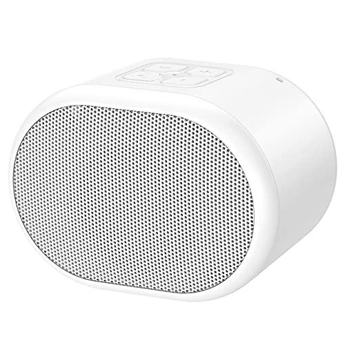 Lvens Bluetoothスピーカー IPX5防水 小型 お風呂 高音質 重低音 TWS機能 おしゃれ マカロン色で可愛い ブルートゥース スピーカー ワイヤレス ポータブル 屋外 携帯 iPhone & Android対応 (white)