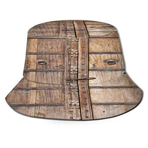 Sombrero de Pescador Unisex Puerta de Madera Antigua Rajasthan India Plegable De...