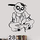 yaonuli Zombie Video Game Sticker Play Decal Game Player Vinilo Adhesivo de Pared Mural Decorativo 42X42cm