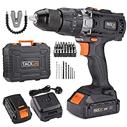 🔨【3-In-1 Drills】The Electric Drill has 3 working modes: screwing, drilling, and hammer drilling. The Combi Drill with hammer function can provide more options for you (wood, plastic, metal and a variety of other materials). 🔨【16 Torques Setting】16 to...