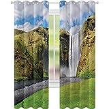 jinguizi Cortinas opacas con aislamiento térmico con vistas panorámicas en cascada de 42 x 72 de ancho x 72 de largo