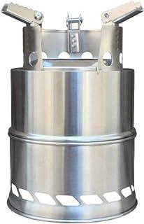 BESTONZON 屋外の調理のための防風の携帯用キャンプストーブのステンレス鋼の取り外し可能なストーブ