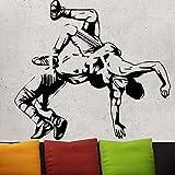 Tianpengyuanshuai Muscle Man Wrestling Design Etiqueta de la Pared Etiqueta de la Pared de Vinilo Resistente al Agua 87X78cm