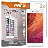 3X Protector de Pantalla para XIAOMI REDMI Note 5A / 5A Prime / Y1 / Y1 Lite, Cristal Vidrio Templado Premium