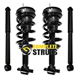 Front Quick Complete Strut Assemblies & Rear Bare Shock Absorbers Compatible with 2007-2013 GMC Yukon (Set of 4)