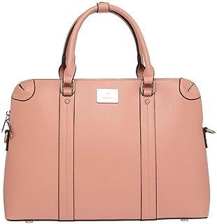 Van Heusen Womens Zip Closure Satchel Handbag (Pink_Free Size)