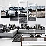 65Tdfc Decoración De Pared 5 Piezas: Skyline GTR Car Poster Modern Wall Art Marco Modular Decorativo Picture Canvas HD Impreso One Set Painting