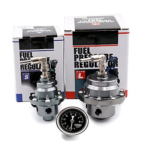 WFAANW Regulador de presión de combustible de carreras ajustable original con medidor e instrucciones (Color : Type S BLUE)